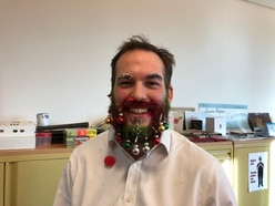 Beard baubles: Telford housing staff dress up for Christmas charity appeal
