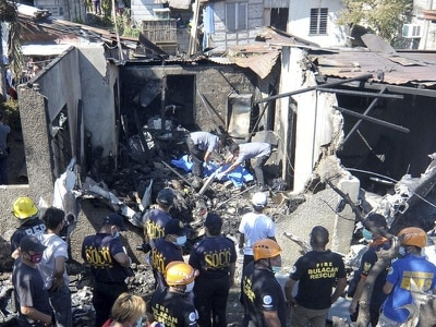 Nine dead as small plane crashes into house in Philippines