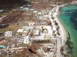 Hurricane-hit islands look apocalyptic, says Priti Patel on tour of Caribbean
