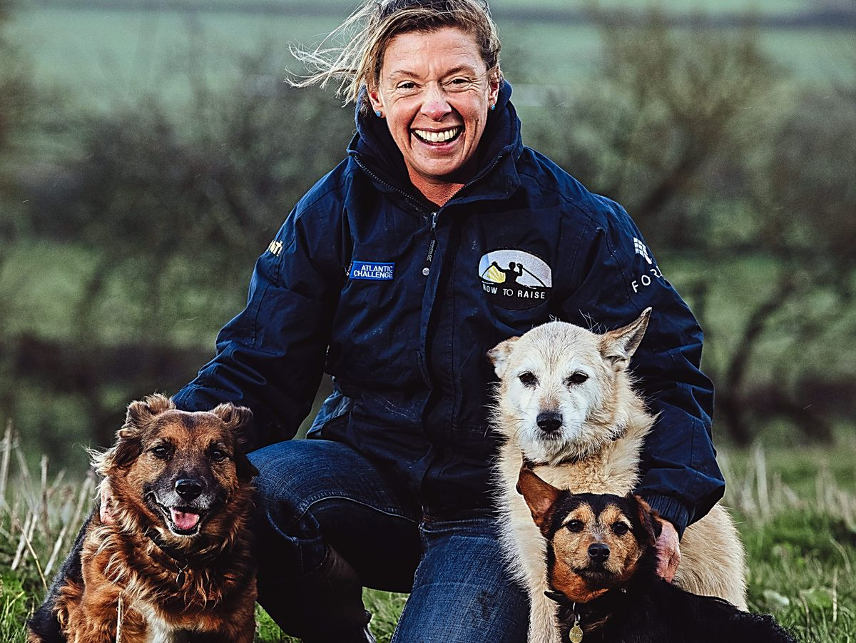 Atlantic rower Kelda Wood is back home with her rescue dogs after weeks spent at sea