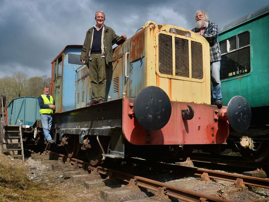 MP Owen Paterson, centre, at Tanat Valley Light Railway with Adrian Semence, left, and project manager Mark Hignett