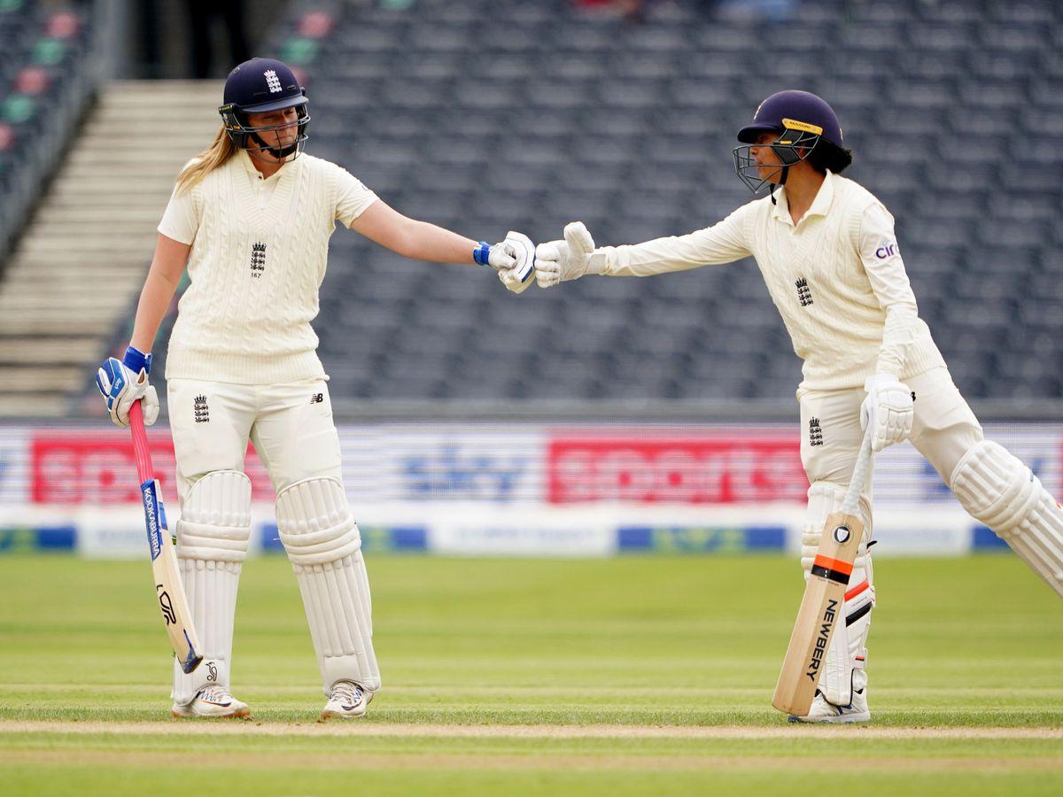 Sophia Dunkley, right, impressed for England