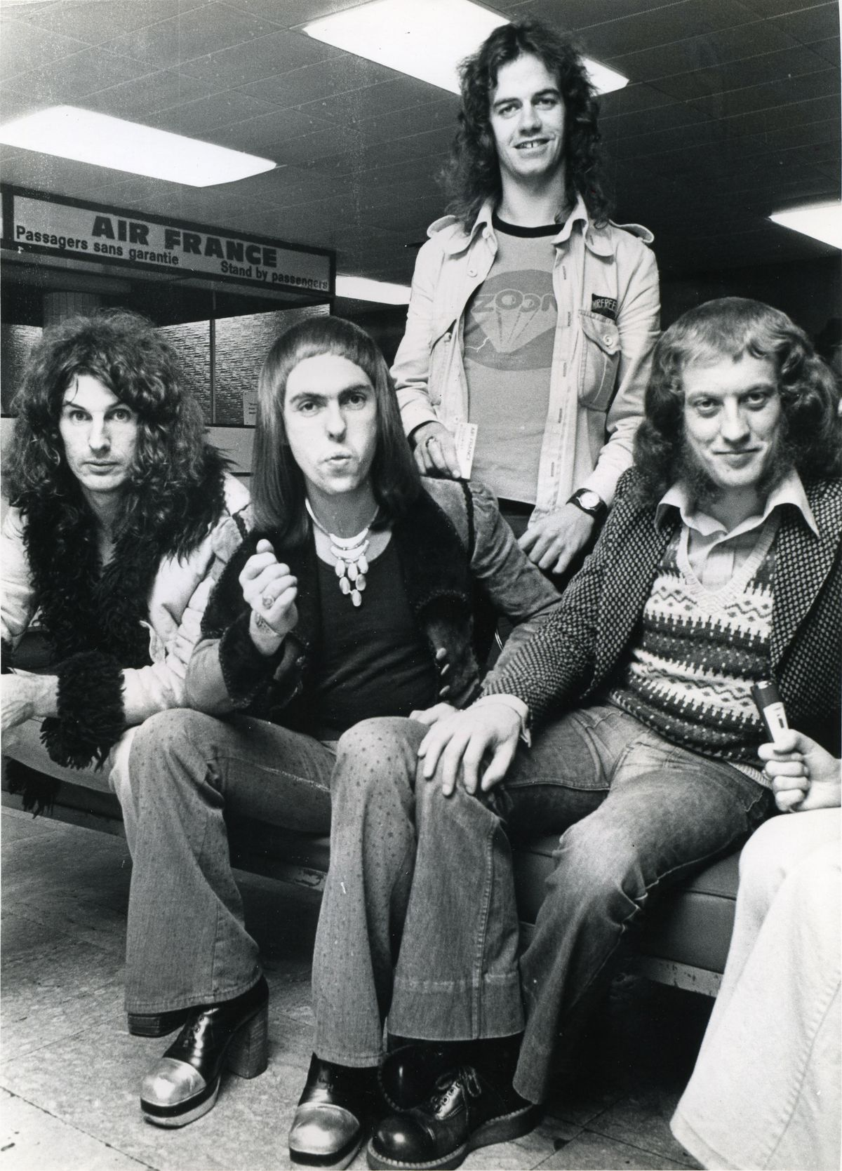 Slade at Heathrow airport in 1972