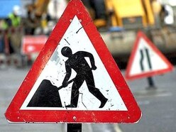 Roadworks in Shrewsbury