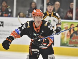 Tigers Captain and double goalscorer Jason SilverthornTelford Tigers v Bracknell Bees 16/2/20 by Steve Brodie
