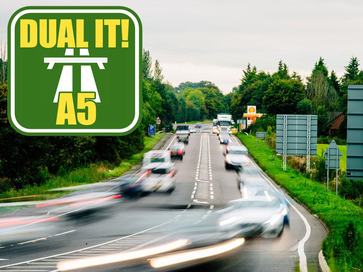 The A5 through Shropshire