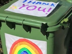 Waste crews find thankyou messages on the bins