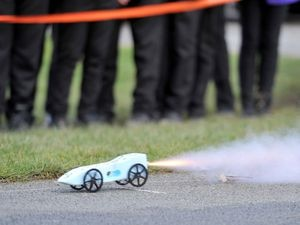 One of the rocket cars