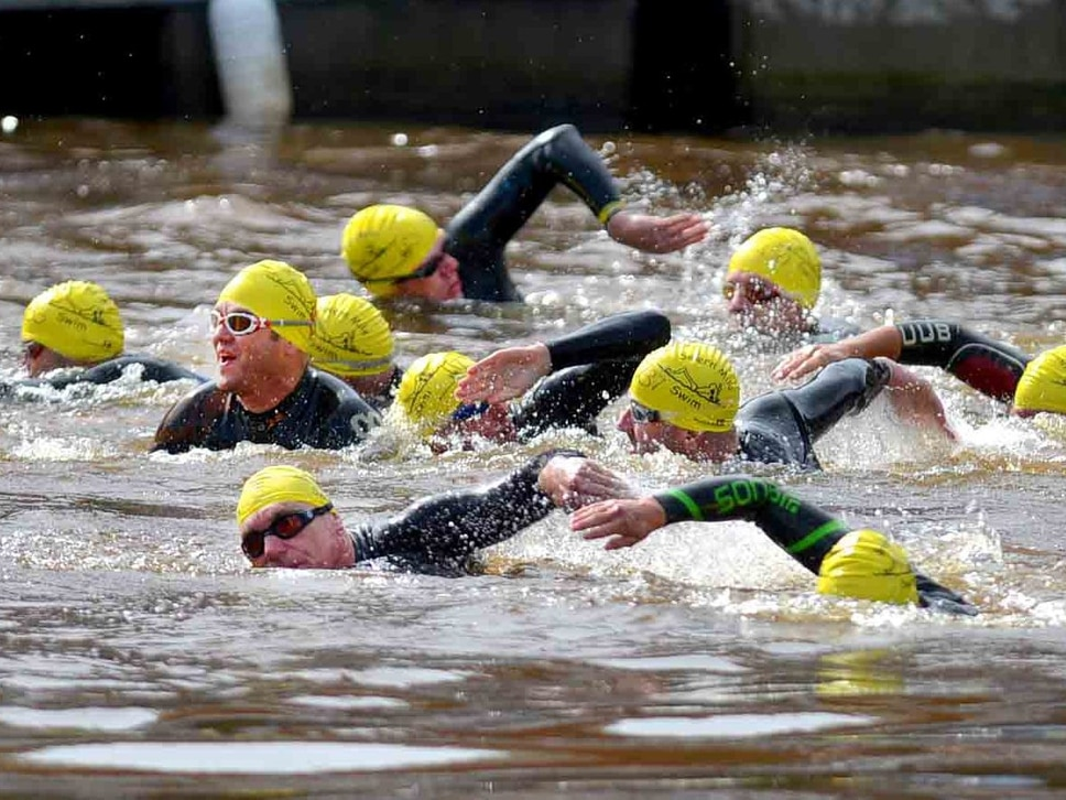 Swimmers plunge in for Shrewsbury's Severn Mile river challenge - with pictures