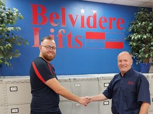 Tom Owen and Stephen Nankivell of Belvidere Lifts
