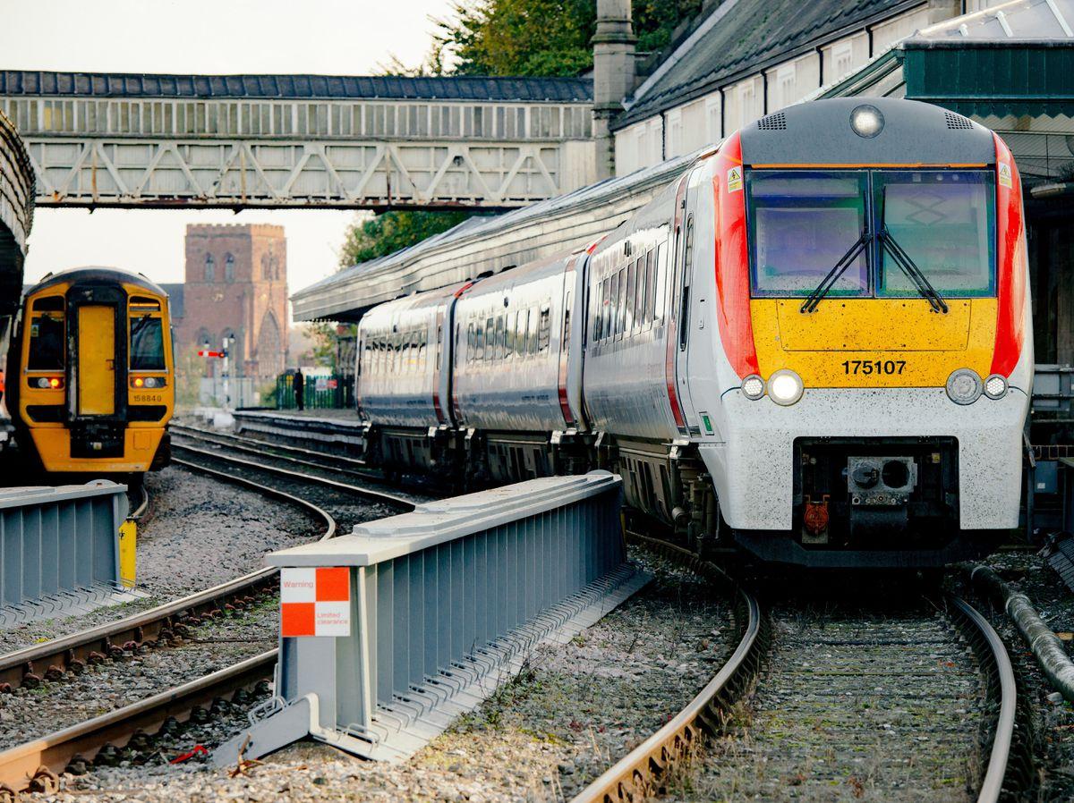 Transport for Wales train at Shrewsbury station