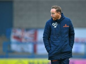 TELFORD COPYRIGHT MIKE SHERIDAN Telford manager Gavin Cowan during the Vanarama Conference North fixture between AFC Telford United and Guiseley at the New Byucks Head Stadium on Saturday, November 28, 2020...Picture credit: Mike Sheridan/Ultrapress..MS202021-047.
