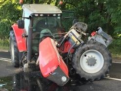 Tractor crash closes A49 in Shropshire