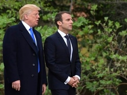 Business and pleasure on menu for Macron's second day in US