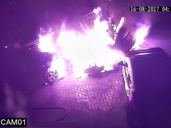 WATCH: Arsonist torches Telford car right in front of CCTV camera