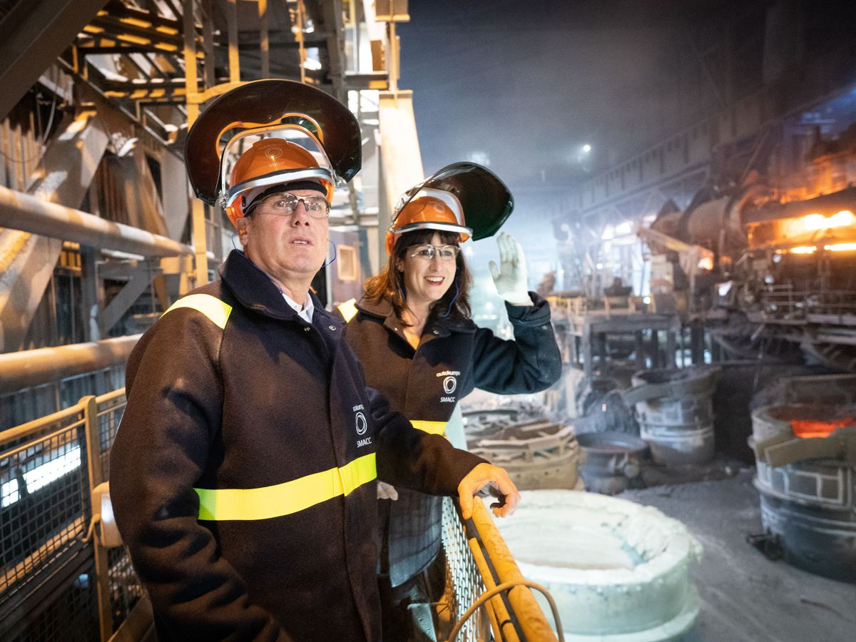 Sir Keir Starmer and shadow chancellor Rachel Reeves visit Outokumpu Stainless in Sheffield