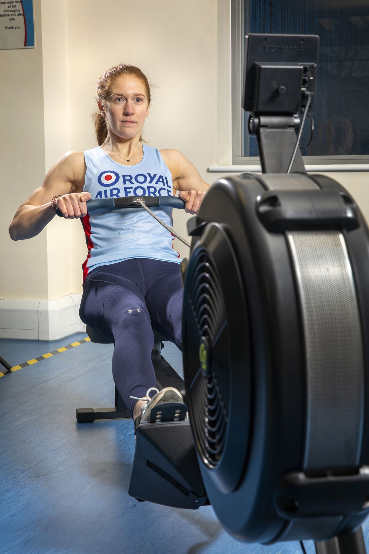 Corporal Victoria Needham has qualified for the rowing world championship finals. Photo: MOD