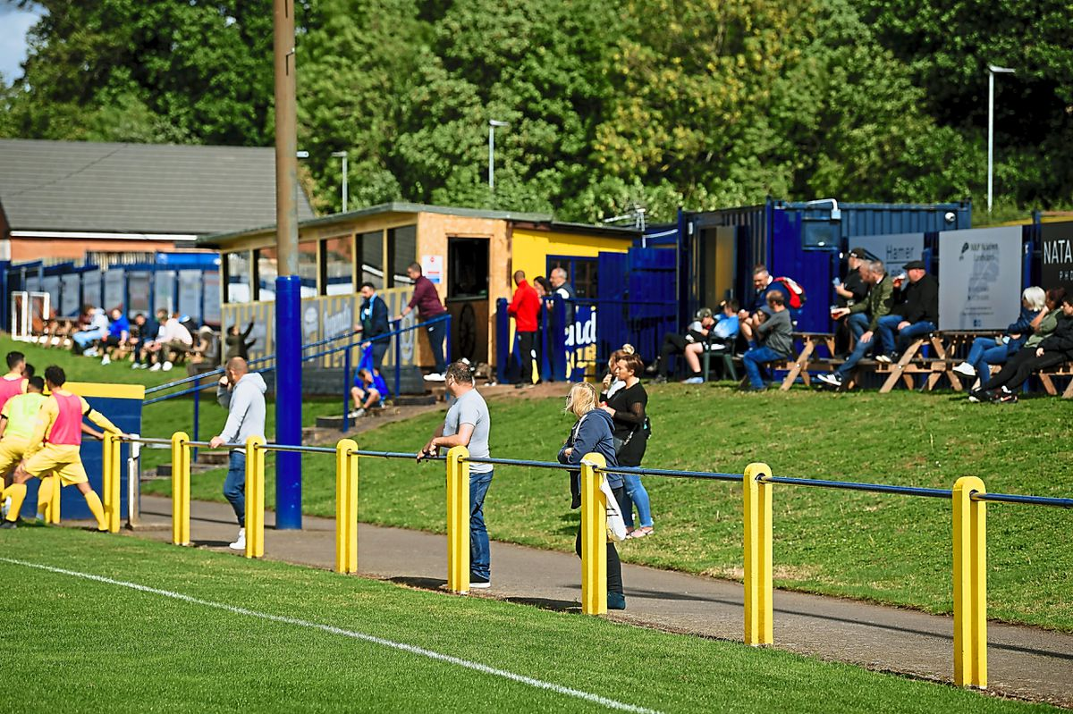 Shifnal Town FC vs Coaville Town FC - Friendly - at Acoustafoam Statium in Shifnal.