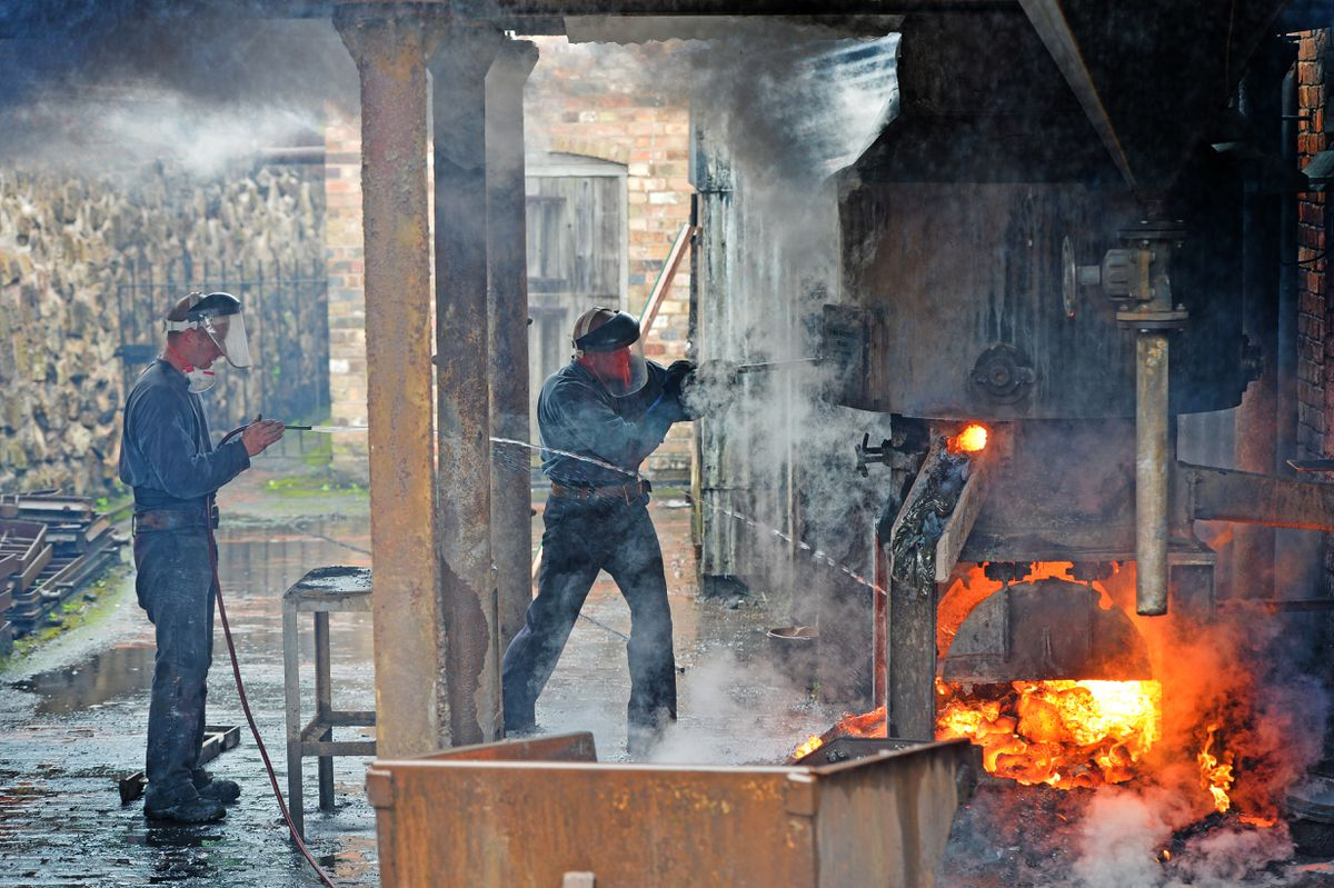 The Blists Hill foundry is back in business
