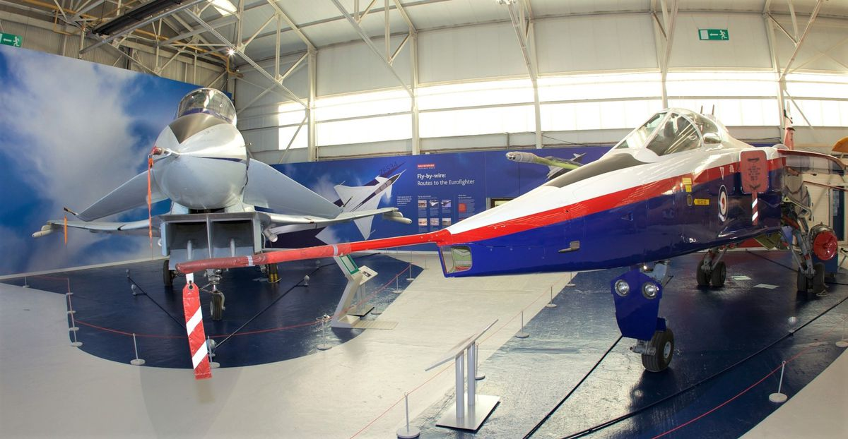 EAP and Jaguar at RAF Cosford. Picture: Tony Jauncey