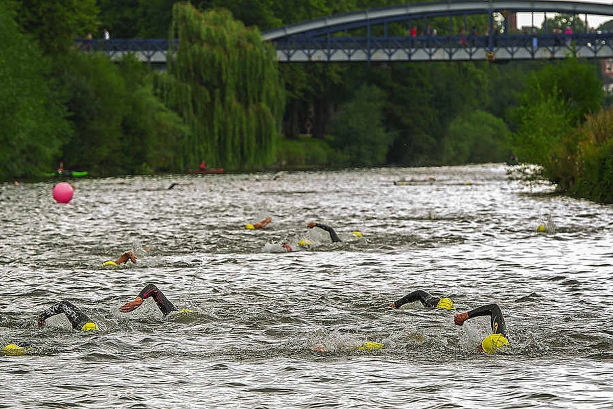 Swimmers make a splash in Shrewsbury open water challenge