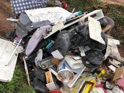 Rubbish dumped on country lane near Newport