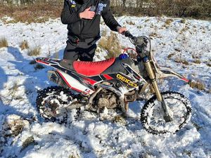 The bike was seized after being driven around Ketley and Overdale. Photo: West Mercia Police.