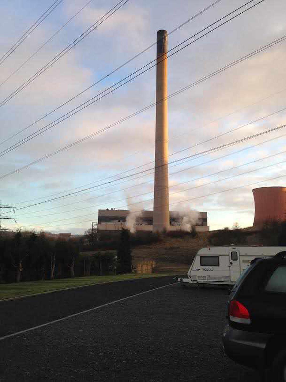The chimney at Ironbridge Power Station
