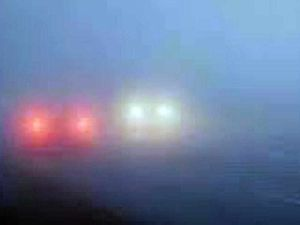 Car and van crash in foggy conditions on Shropshire roads