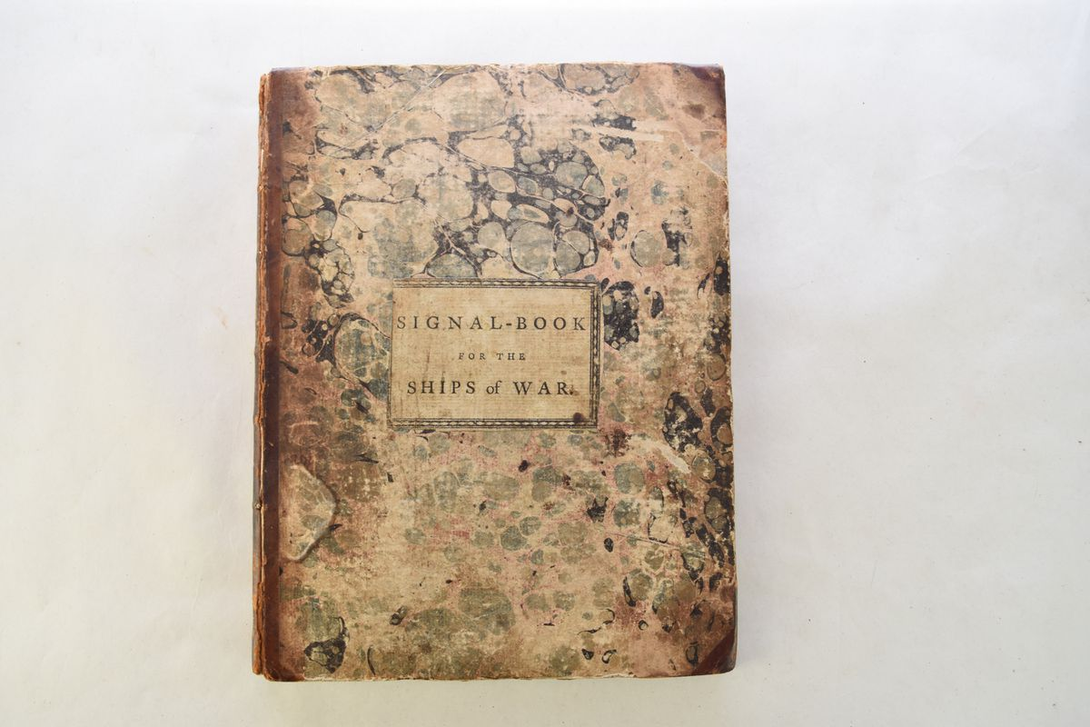 The naval book fetched £11,000 at auction