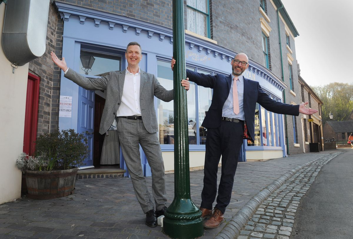 Swinging back into action at Blists Hill Victorian Town, visitor engagement director Justin Tose and CEO Nick Ralls