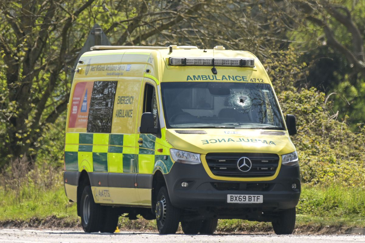 The scene where an ambulance worker was killed. Pic: SnapperSK