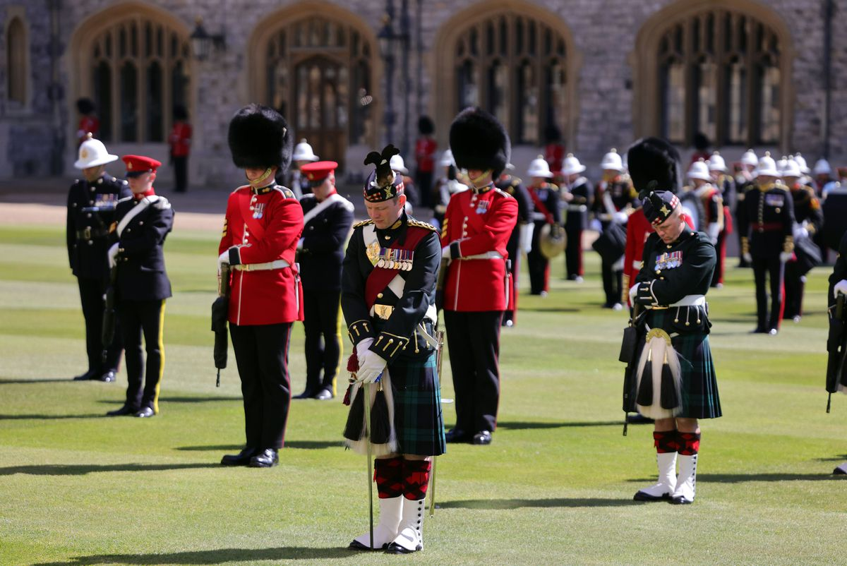 The military ceremony was organised by Sergeant Major Andrew 'Vern' Stokes, from Telford