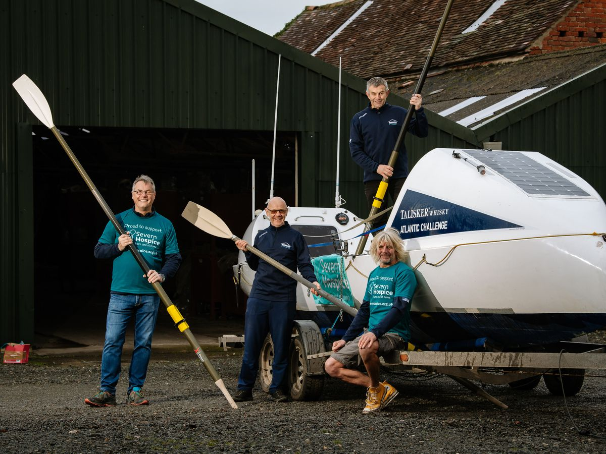 SHREWS COPYRIGHT SHROPSHIRE STAR JAMIE RICKETTS 30/11/2020 - Talisker Whiskey Atlantic Challenge - Four men from Shropshire are taking part in next year's Atlantic Challenge. They will row 3000 miles from Canary Islands to Antigua and raise money for Severn Hospice, as well as RNIB. In Picture L>R: Stuart Shepherd, Martin Skehan, Stuart Richards and Gary Richards..