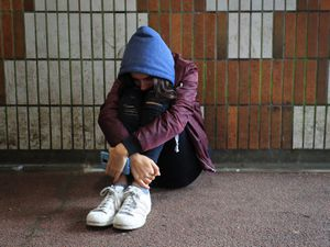 PICTURE POSED BY MODEL ..File photo dated 02/02/20 of a teenage girl showing signs of mental health issues. Nearly half of young people would not speak to school staff about their mental health concerns, a survey suggests. Issue date: Monday March 15, 2021. PA Photo. Almost one in four pupils said the main benefit of discussing mental health at school was that it was less difficult than talking to family, according to the report from the charity Anna Freud Centre. See PA story EDUCATION MentalHealth. Photo credit should read: Gareth Fuller/PA Wire.