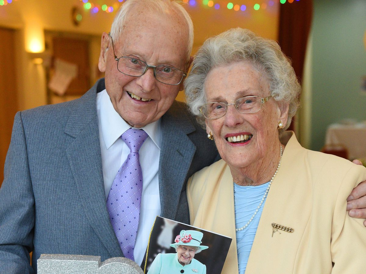 Vernon and Evelyn Ward, who were celebrating their 70th wedding anniversary at Ryton Village Hall