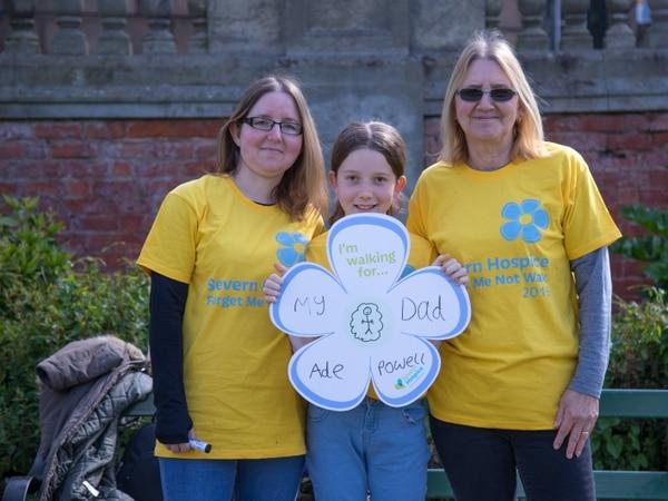 Remembering loved ones at hospice walk in Shrewsbury