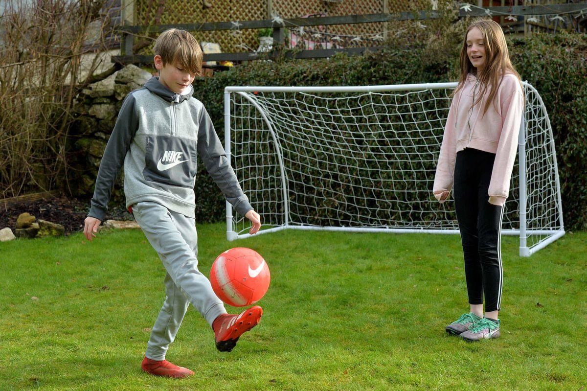 Jen Park, 10, and James Park, 12, from Porthywaen, Oswestry