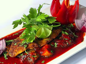 Fiery fish – the sea Bass special
