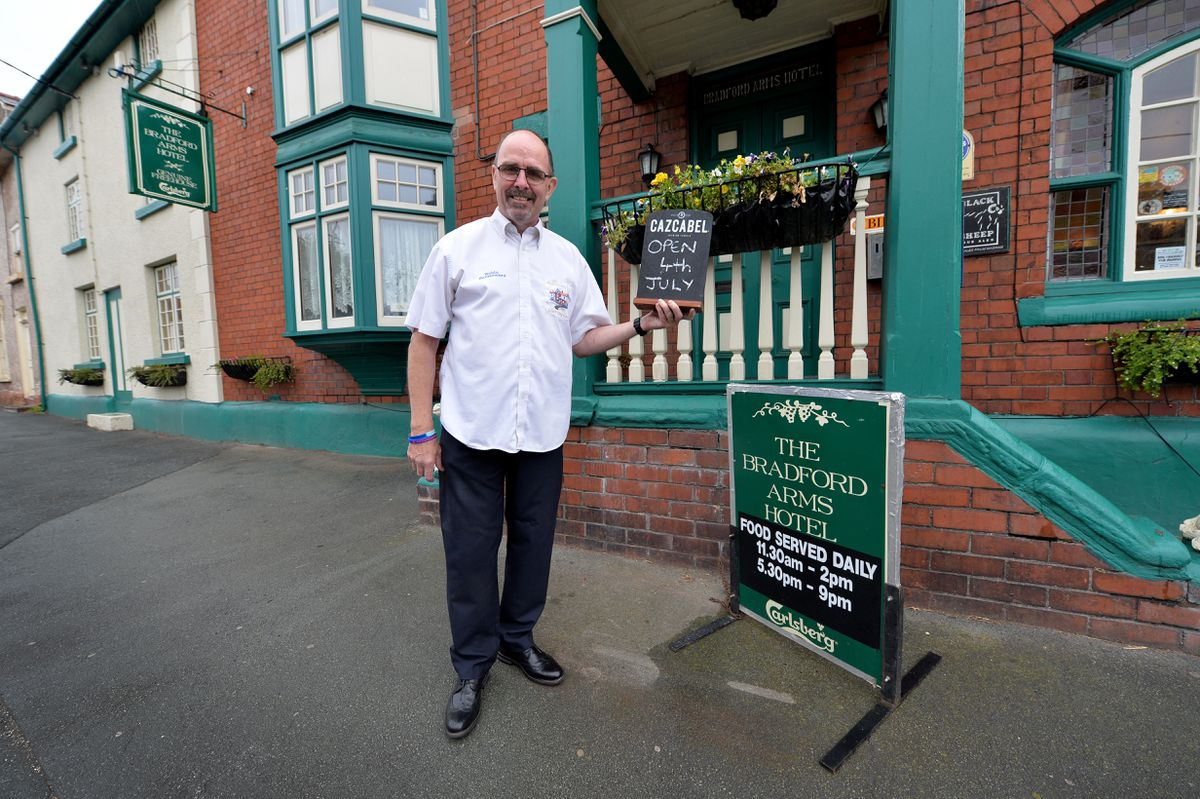 Bob Headley, landlord at the Bradford Arms, who is preparing to open on Saturday
