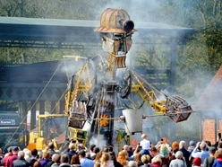 Man Engine towers over crowds in Ironbridge - with video and pictures