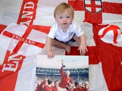 Shropshire's very own Bobby Moore - aged one - is flying the flag for England