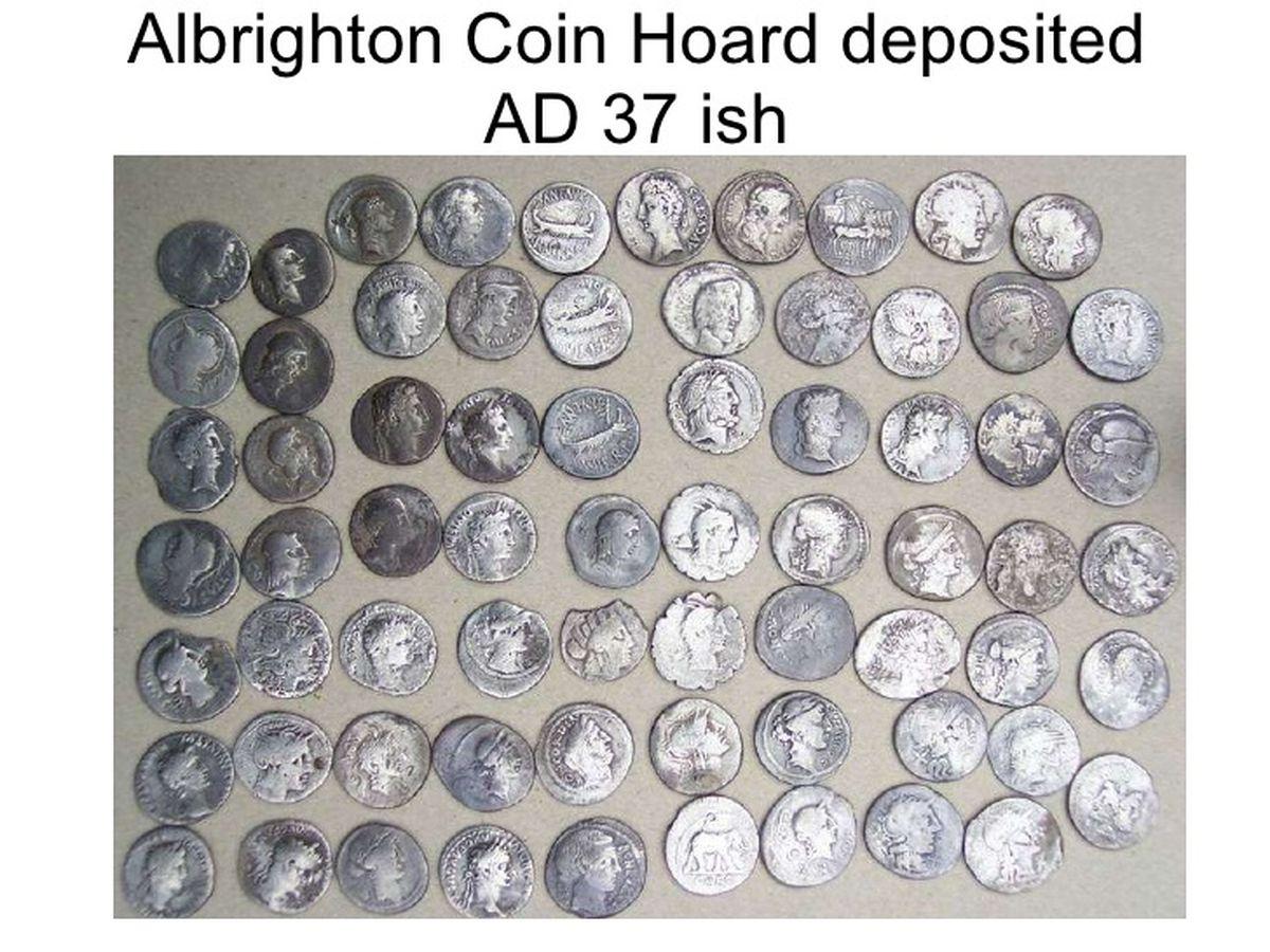 The Albrighton Hoard was declared treasure in 2005