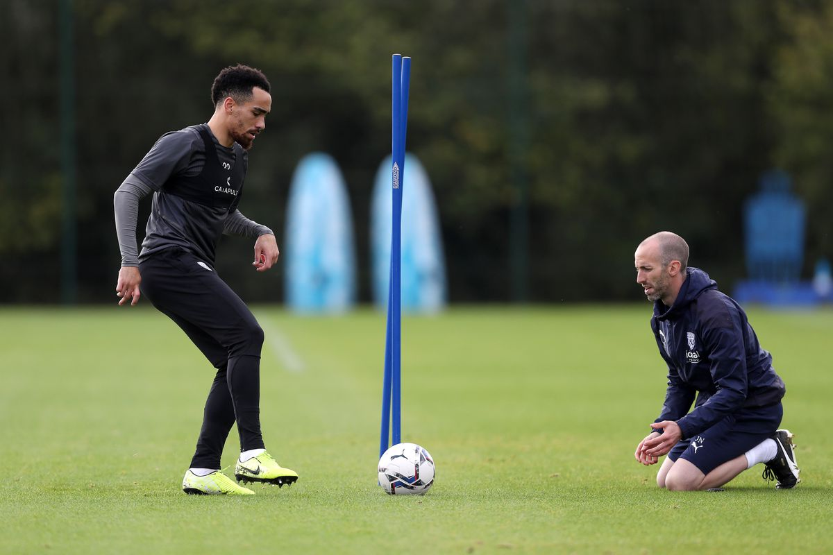 Kean Bryan of West Bromwich Albion and Jake Livermore of West Bromwich Albion. (Photo by Adam Fradgley/West Bromwich Albion FC via Getty Images).