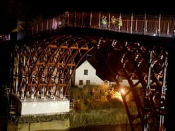 Crowds and BBC One Show gather to mark end of work on Iron Bridge