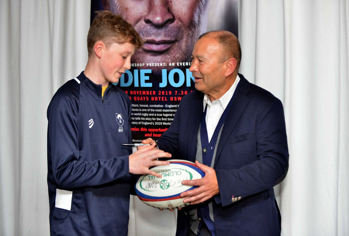Eddie Jones meets Charlie Sweeney, 15, from Whitchurch