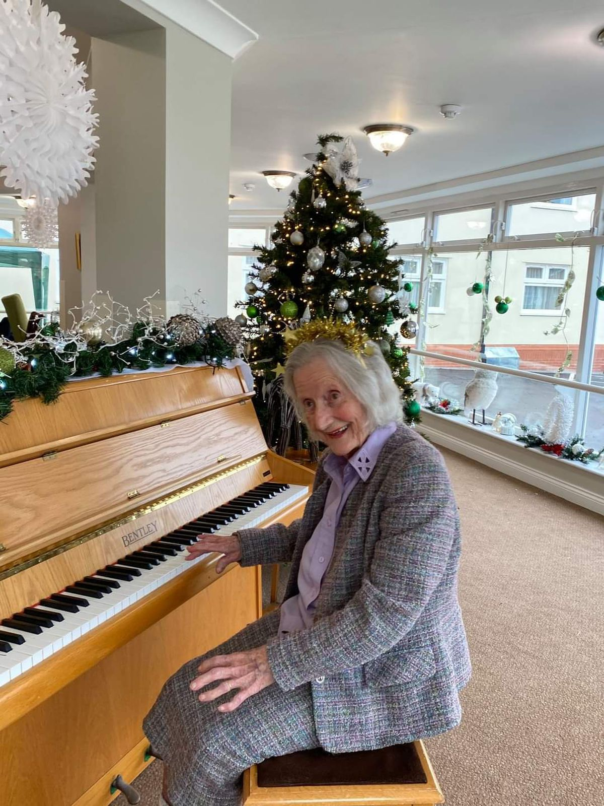 Rosalie Dent, 102, gets ready for Carols on the Doorstep