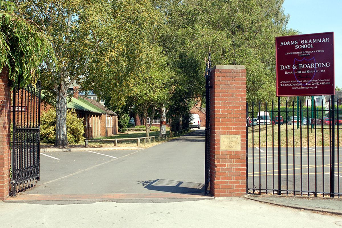 Entrance to Adams' Grammar School, Newport
