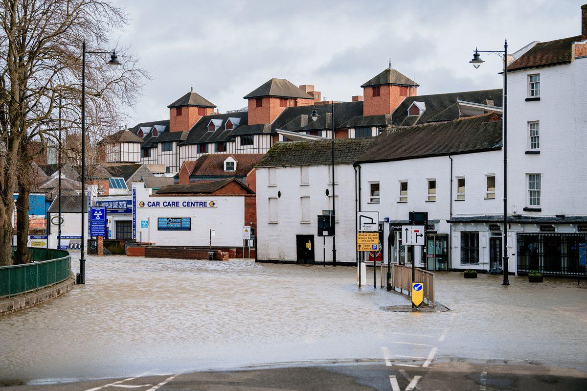 Flooding in Smithfield Road, Shrewsbury