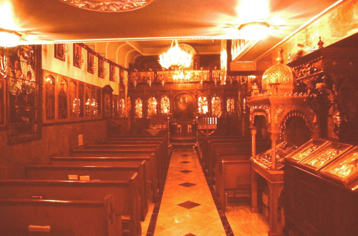 The glittering interior of the church, photographed just two days before it was destroyed.